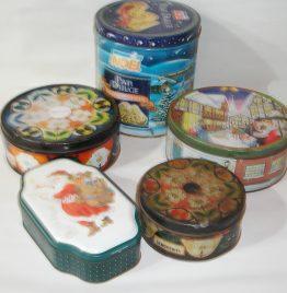 5 latas grandes de coleccion