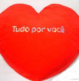 almohadon corazon rojo tudo por voce muy mullido