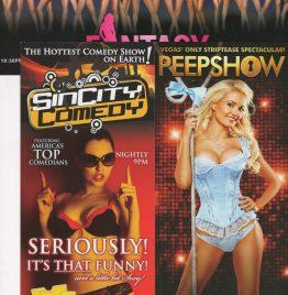21 revistas y 3 folletos de escorts norteamericanas
