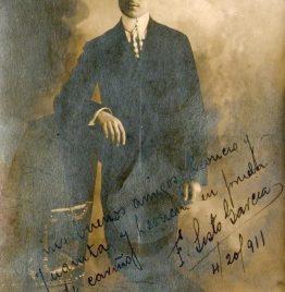 foto postal antigua con dedicatoria abril de 1911