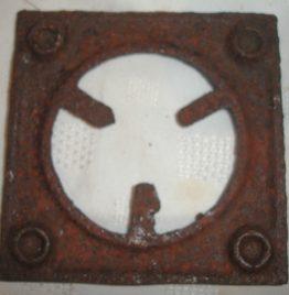 hornalla de hierro fundición 11cm x11cm art usado