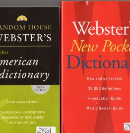 webster´s new pocket dictionary + random house webster´s pocket american dictionary