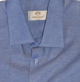 Camisa azul peksoy Talle L M/larga
