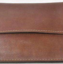 Billetera MONEDERO De Cuero Marrón para cinturón art usado