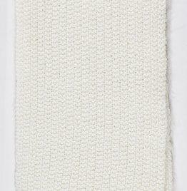bufanda de lana blanca 80x10