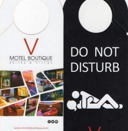 carteles do not disturb v motel boutique precio por c/u