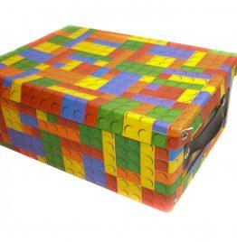 Caja de cartón para archivos con tapa motivo lego 31.5x22.5x13