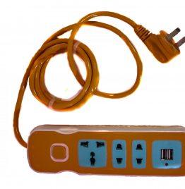 Alargue zapatilla con USB 1.5 m de cable