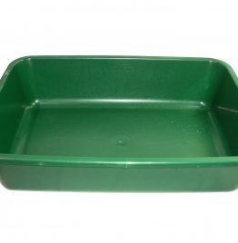 Bandeja plástica Multiuso Color verde 41 x 30 x 10 cm