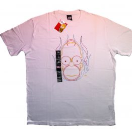 Remera manga corta the simpsons original color blanco talle L