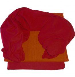 mantas de viaje LAN roja o naranja 100 x 170 cm