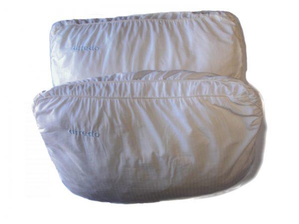 2 almohadas arredo 40 x 65 relleno puro poliéster art usado precio por las 2